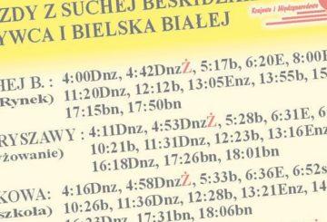 Linia Sucha Beskidzka ↔ Bielsko-Biała znowym rozkładem jazdy