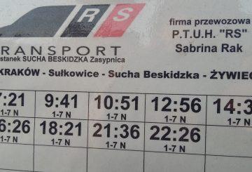 Nowe połączenie zŻywca doKrakowa przezSuchą Beskidzką!